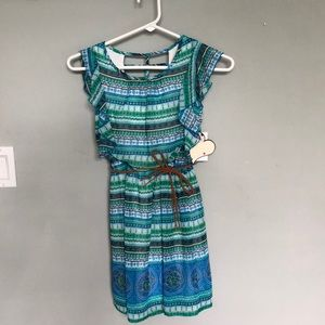 Other - Blue and green girls dress - NWT